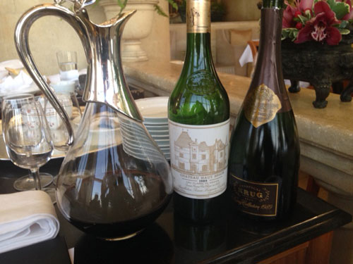 Krug and Haut Brion in Hong Kong